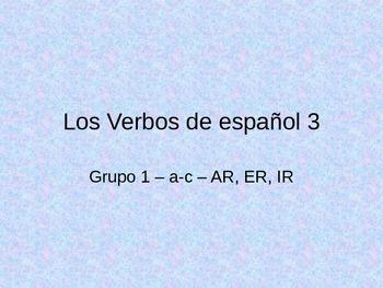 Spanish Verbs - Spanish 3-AP