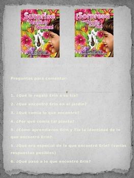 Spanish Version of Surprise in Auntie's Garden! discussion