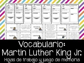 Martin Luther King Jr. - Vocabulario de Ideales. Vocabular