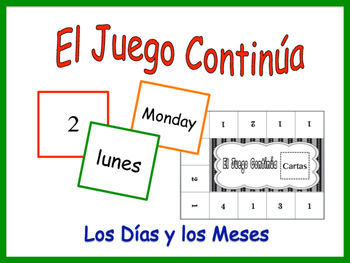 Spanish Days and Months Activity for Groups, Inventive Twi