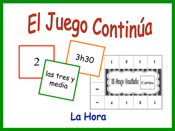 Spanish Time Activity for Groups, Inventive Twist on Memory