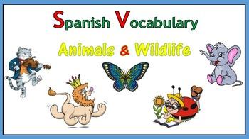 Spanish Vocabulary - Animals and Wildlife (PowerPoint)