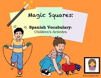 Spanish Vocabulary: Children's Games and Activities Magic Squares
