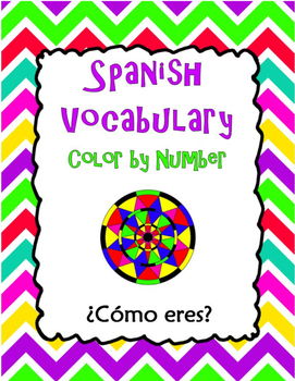 Spanish Vocabulary Color by Number: What are you like?