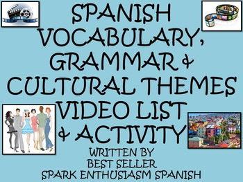 Spanish Vocabulary, Grammar and Cultural Themes Video List