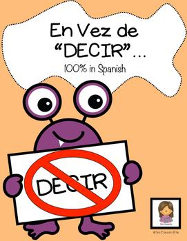 "Spanish Vocabulary ""Instead of Decir"""