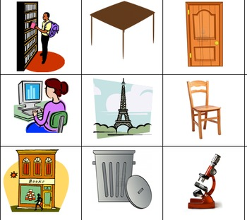 Spanish Vocabulary Memory Game (escuela)