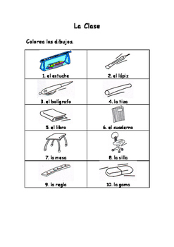 Spanish Vocabulary Pack - Classroom Objects