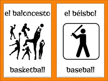 Spanish Sports Vocabulary Word Wall