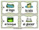 Spanish Vocabulary Write the Room: Landforms Set