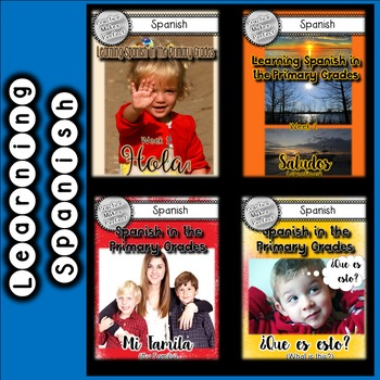 Spanish Exposure Lessons in the Primary Grades Bundle Weeks 1-4