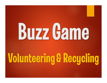 Spanish Volunteering and Recycling Buzz Game