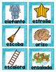 Spanish Vowel Picture Flashcards*Tarjetas de las vocales e