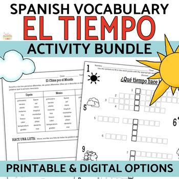 Spanish Weather - EL Tiempo BUNDLE
