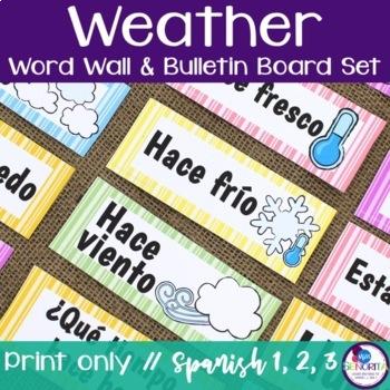 Spanish Weather {El Tiempo} Bulletin Board Set
