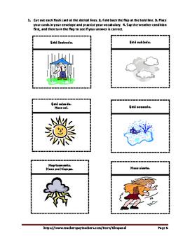 Spanish Weather Flash Cards