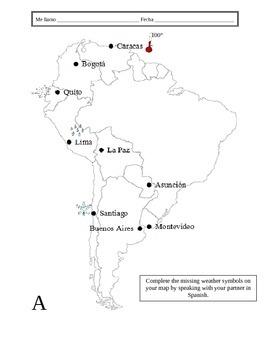 Spanish Weather Information Gap Activity