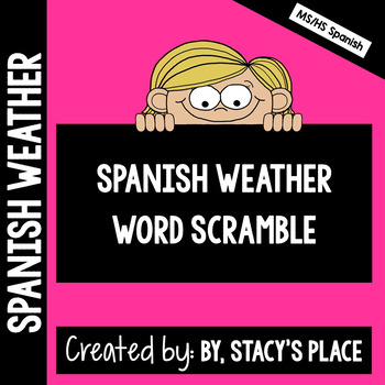 Spanish Weather Word Scramble