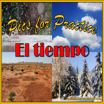 Spanish Weather Pics for Practice Powerpoint