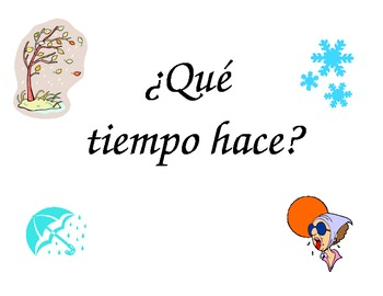 Spanish Weather - Signs/Posters for your classroom
