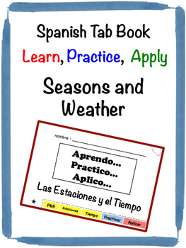 Spanish Weather Tab Book