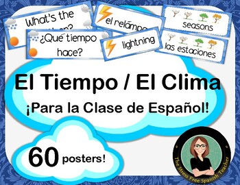 Spanish Weather / Tiempo / Clima Classroom Signs / Posters