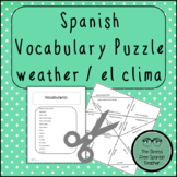 Spanish Weather Vocabulary, Matching Squares Puzzle