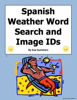 Spanish Weather Word Search Puzzle Worksheet