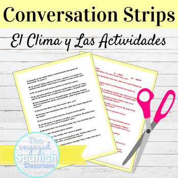 "Spanish Weather and Activities Conversation Strips: ""¿Qué"