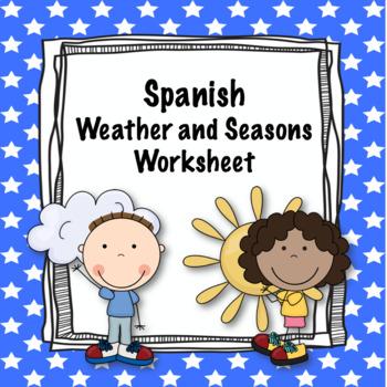 Spanish Weather and Seasons worksheet