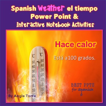 Spanish Weather el tiempo Power Point and Interactive Note
