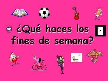 Spanish Teaching resources. Weekend Activities and Present