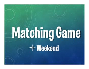 Spanish Weekend Matching Game