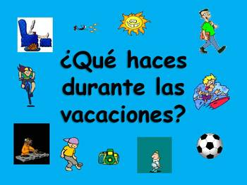 Spanish Teaching Resources. Holiday/ Vacation Activities P