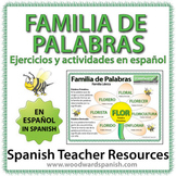 Spanish Word Family Worksheets - Familia de Palabras - Ejercicios