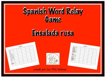 Spanish Game Word Relay: Ensalada rusa