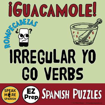Spanish Word Scramble * Irregular YO GO * Presente Verbos