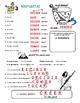 Spanish Word Scramble *Regular Present Verbs* Presente Ver