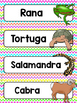 Spanish Word Wall Cards {Animales Americanos} ESPAÑOL