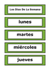 Spanish Word Wall - Days of the Week, Months of the Year, Seasons