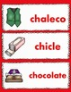 Dual Language Spanish Vocabulary Cards Set #2:  Gomez and