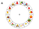 Spanish Word Wheel:  Action Verbs