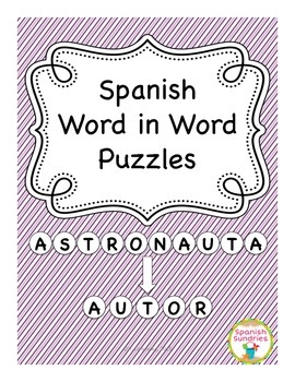 Spanish Word in Word Puzzles - Set 1