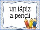 Spanish Word of the Day - Classroom Supplies