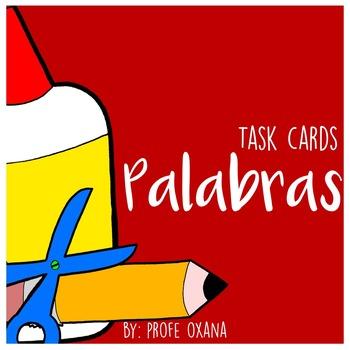 Español Tarjetas de deletreo de palabras - Spanish Word wo