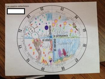 Spanish Worksheet: 4 Seasons and Months