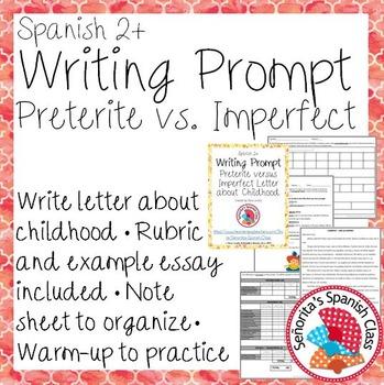 Spanish - Writing Prompt - Preterite vs Imperfect Childhoo