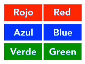 Spanish and English Color Names