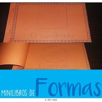 Spanish and English Mini libros de las formas Shapes Minib