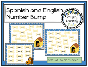 Spanish and English Number Bump - (Numbers/Números 2-12)
